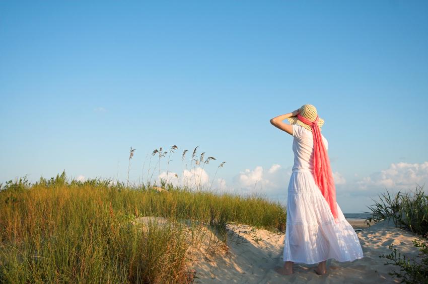 Charleston Area Beaches, Woman at Beach